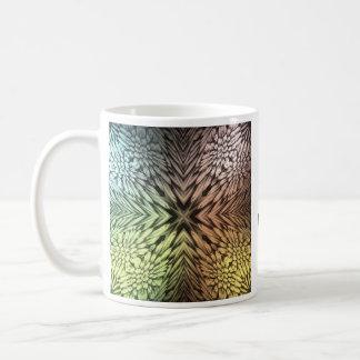 Caleidoscopio silenciado de los colores tazas de café