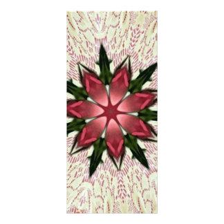 Caleidoscopio subió rosa romántico del cordón del  plantilla de lona