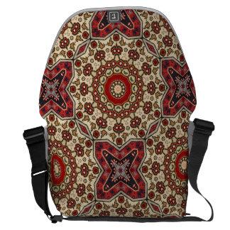 Caleidoscopio turco de la alfombra bolsas de mensajería