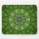 Caleidoscopio verde del mosaico alfombrilla de raton