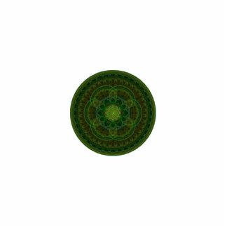 Caleidoscopio verde floreciente adorno fotoescultura
