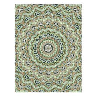 Caleidoscopio verde postales