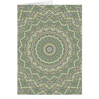 Caleidoscopio verde tarjeta de felicitación
