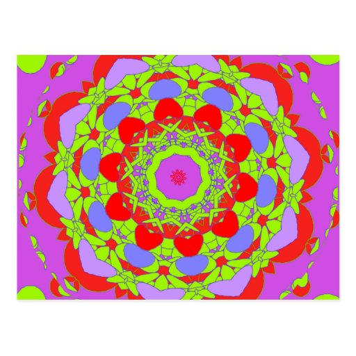 Caleidoscopios abstractos postales
