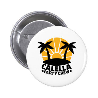 Calella party crown 2 inch round button