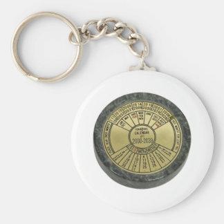 Calendar080909 Basic Round Button Keychain