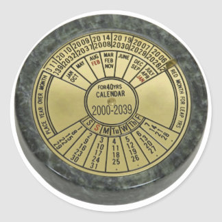 Calendar080909 Classic Round Sticker