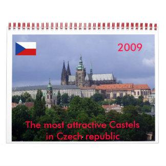 Calendar 2009 Czech republic-castels