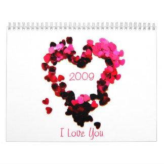 Calendar  2009, I Love You