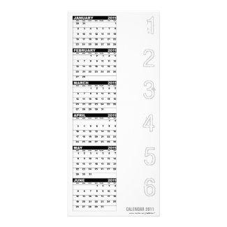 Calendar 2011 Rack Card Number rackcard