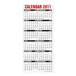 Calendar 2011 Rack Card Season's Greetings