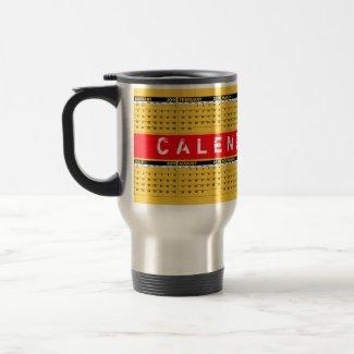 Calendar 2011 Travel Mug Red Orange mug