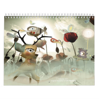 Calendar 2011 Whimsical transparency and color