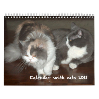 Calendar 2011 with cats