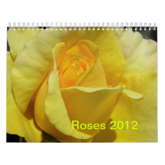 CALENDAR - 2012  ROSES