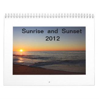 Calendar 2012 - Sunrise and Sunset