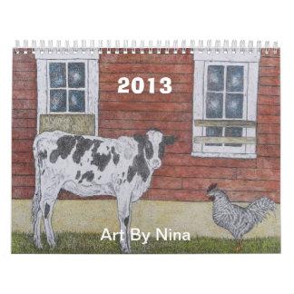 CALENDAR  2013, Art By Nina