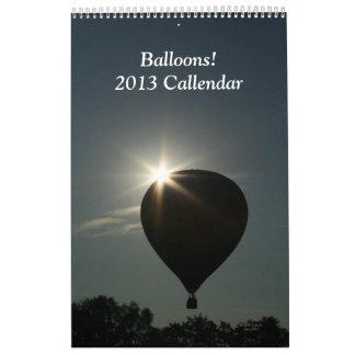Calendar 2013 Balloons