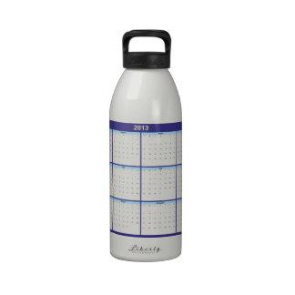 Calendar 2013 English Water Bottles