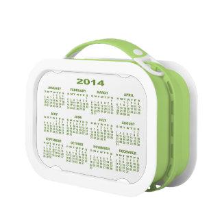 Calendar 2014 Lunchbox (Green) No2