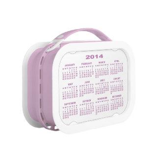 Calendar 2014 Lunchbox (Pink) No2
