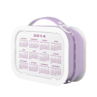 Calendar 2014 Lunchbox (Purple) No2