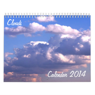 Calendar 2014 with Clouds
