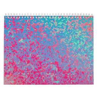 Calendar 2015 Colorful Corroded Background
