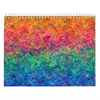 Calendar 2015 Fluid Colors