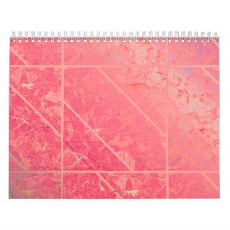 Calendar 2015 Pink Marble Texture