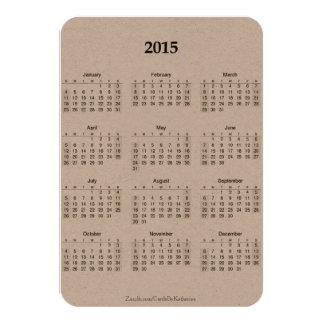 Calendar-2015-Sm. 3x5 Kraft w/quote Card