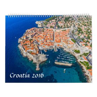 Calendar 2016 Croatia aerial