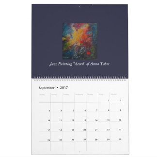 Calendar 2017 abstract kind with