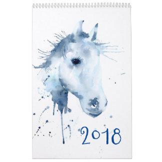 Calendar 2018 Watercolor Horse