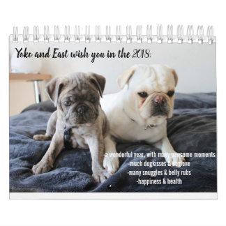 calendar 2018 yoko and east