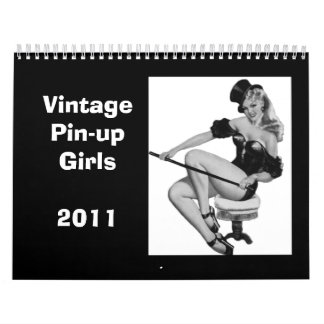 Calendar 3 Vintage Pin-up Girls 2011 Jan-Dec