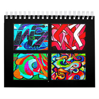 Calendar-Abstract-Graffiti Gallery 1 Calendar