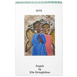 Calendar African American Black Art Angels