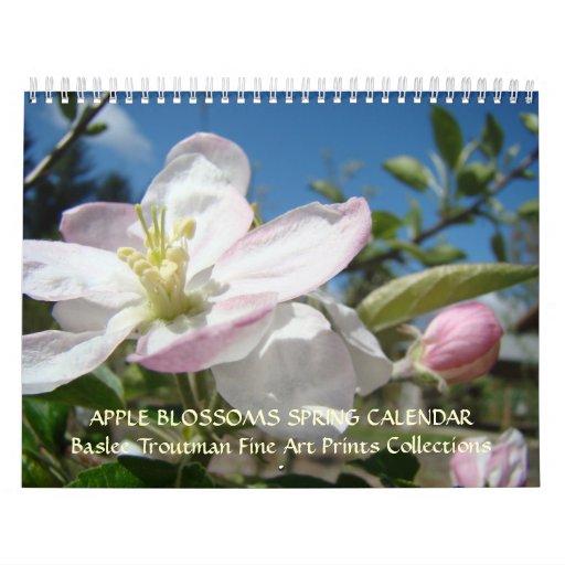 CALENDAR APPLE BLOSSOMS Calendar Spring Art