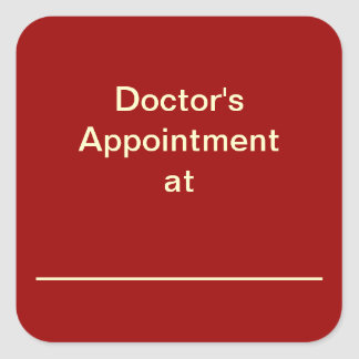 Calendar Appointment  Reminder Stickers (Red)