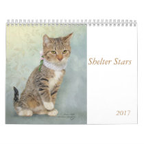 Calendar art featuring shelter animals