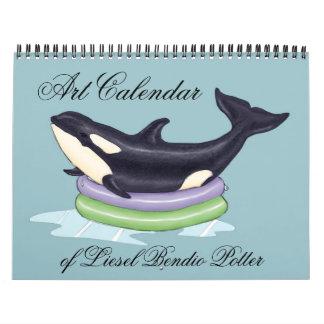 Calendar: Art of Liesel Bendio Potter Calendar