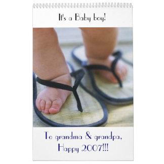 Calendar baby boy