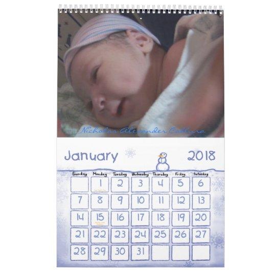Calendar baby boy..