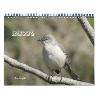 Calendar - Birds (large dates)