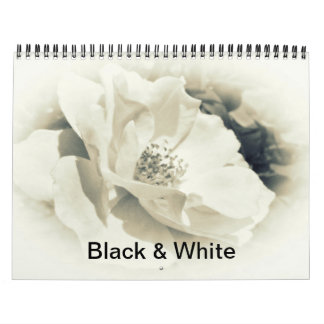 Calendar - Black and White Photography