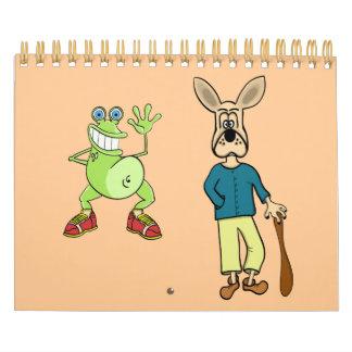 """CALENDAR """"cartoon art"""""""