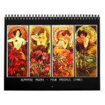 Calendar-Classic/Vintage-Alphonse Mucha Calendar