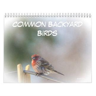 Calendar - Common Backyard Birds