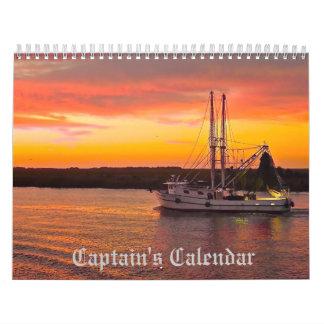 Calendar de capitán calendario de pared